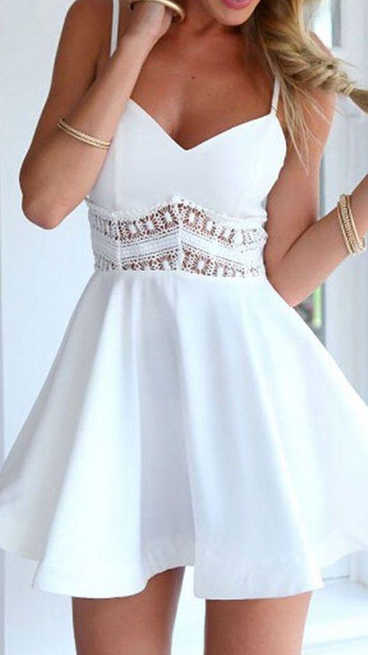 Lace Waist Skater Dress ❤︎