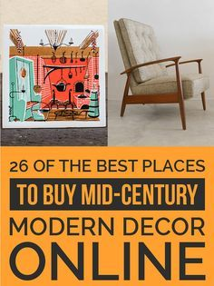 26 Of The Best Places To Buy Mid-Century Modern Decor Online                                                                                                                                                                                 More
