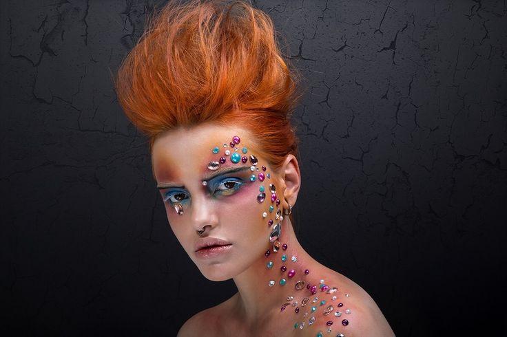 Creative editorial make-up