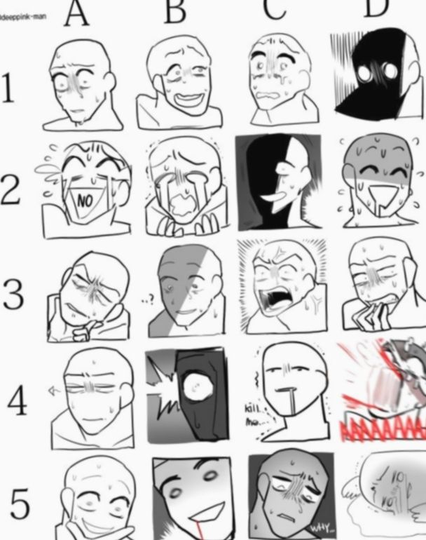 Anime Face Expressions Insane Bnhacosplay