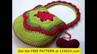 crochet purses and bags tutorials - YouTube