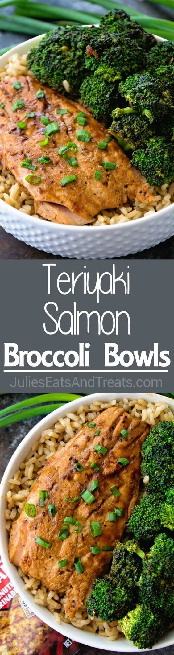 Teriyaki Salmon & Broccoli Bowls ~ delicious, healthy dinner that's quick and easy to prepare...only four ingredients and ready in 30 minutes!