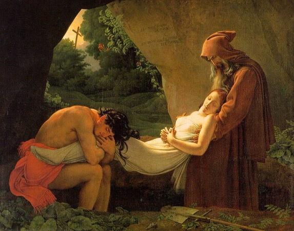 """Atala au tombeau "" de Girodet #Neoclassicisme"