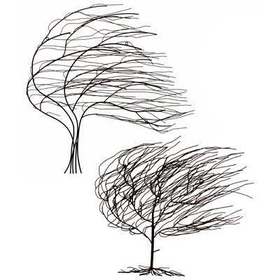 """METAL TREES"" (WALL ART) SET OF 2"
