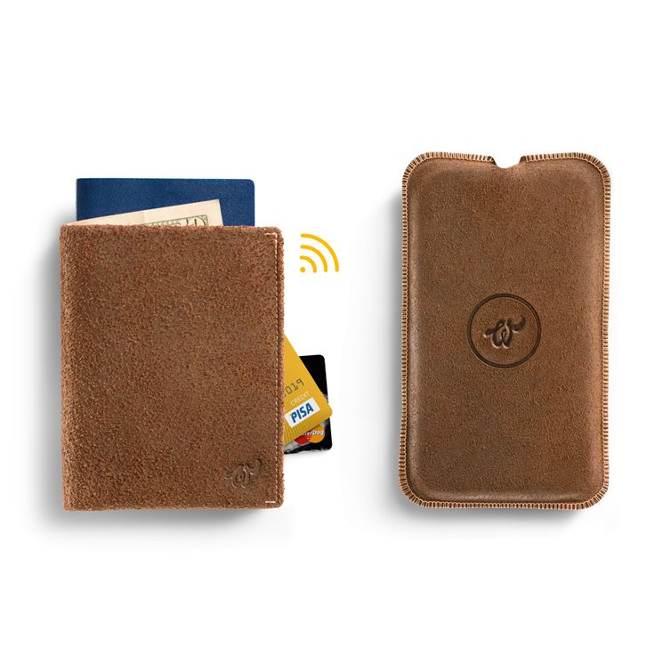 Brown Woolet XL Travel with matching Charging Pad