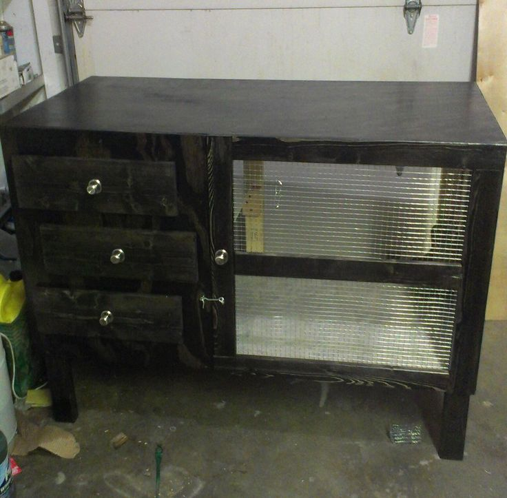 57 best images about rabbit hutch on pinterest rabbit for Rabbit cage made out of dresser