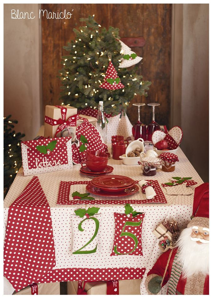 20 best images about christmas table setting 2015 bmc on for Table de noel shabby chic