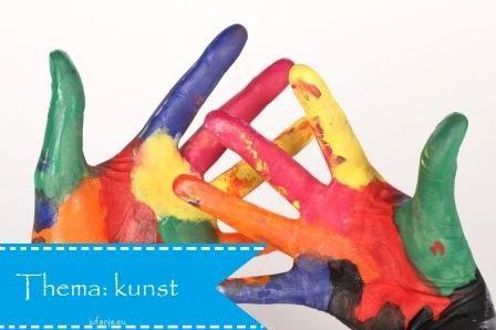 Thema kunst (knutselen, spelen, ontdekken) bij Juf Anja