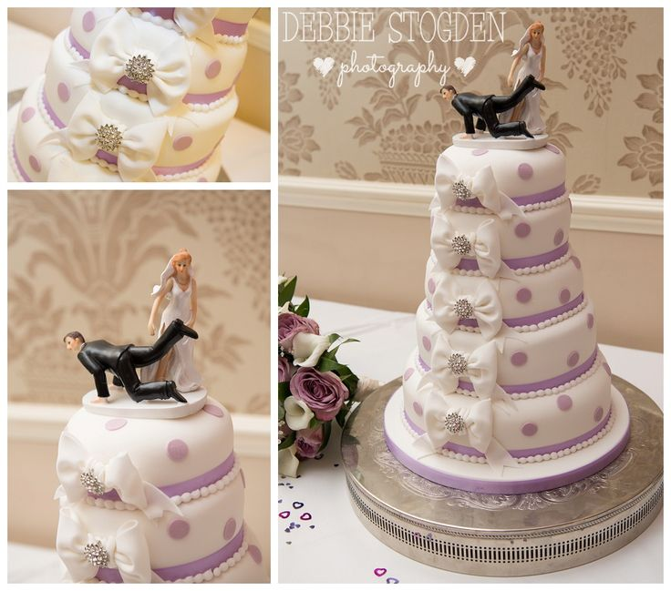 Wedding cake - bride dragging groom cake topper  Cake by Crafty Cakes