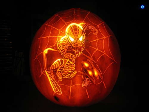 25 best ideas about spiderman pumpkin on pinterest pumpkin carving ideas diy halloween ideas - Delectable picture of accessories for halloween decoration with various spiderman pumpkin stencil ...