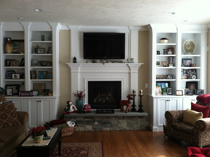 60 best Built in fireplace bookcases images on Pinterest