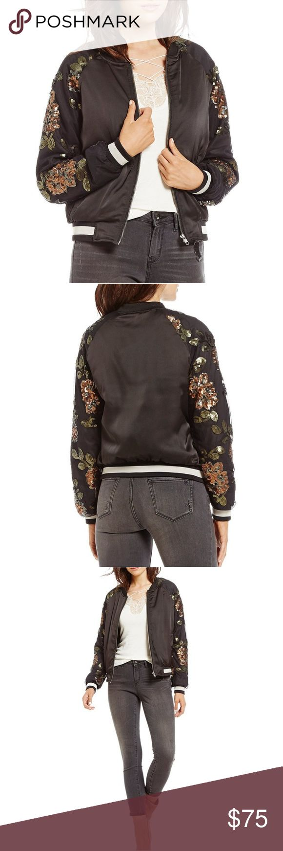 Jessica Simpson Tabby Floral Lace Bomber Jacket Jessica Simpson Tabby Floral Embellished Lace Bomber Jacket  Brand New! With tags!  Color: Black  Size: XL  Retails: $129.50 ** NWT  Made From: 100% Polyester Jessica Simpson Jackets & Coats