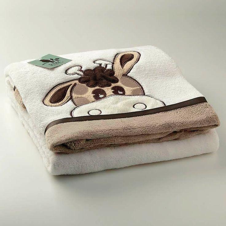 Cobertor em Microfibra Girafa Bege - RMC Home Baby :: 764 Kids | Roupa bebê e infantil