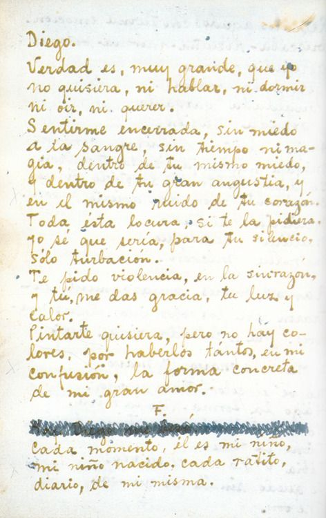 Cartas de Frida Kahlo a Diego Rivera. (letters beween Frida and Diego)