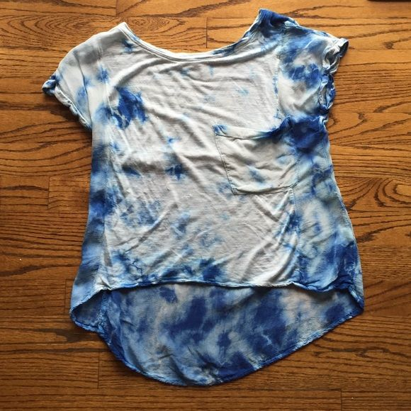 Cool Tie Dye Shirt Front material is cotton and back is a sheer material. Front pocket super breathable. From Nordstrom BP Band of Gypsies Tops Blouses