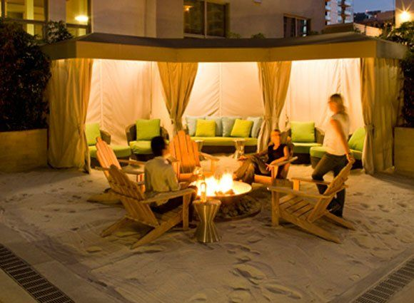 Adult Sand Box And Seating Backyard Outdoor Rooms