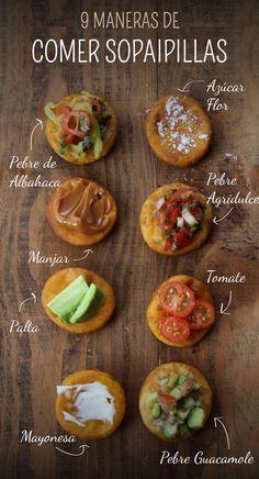 9 maneras de comer sopaipilla. Receta de sopaipillas
