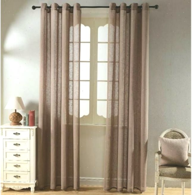 Top Finel Solid Faux Linen Sheer Curtains For Living Room Bedroom
