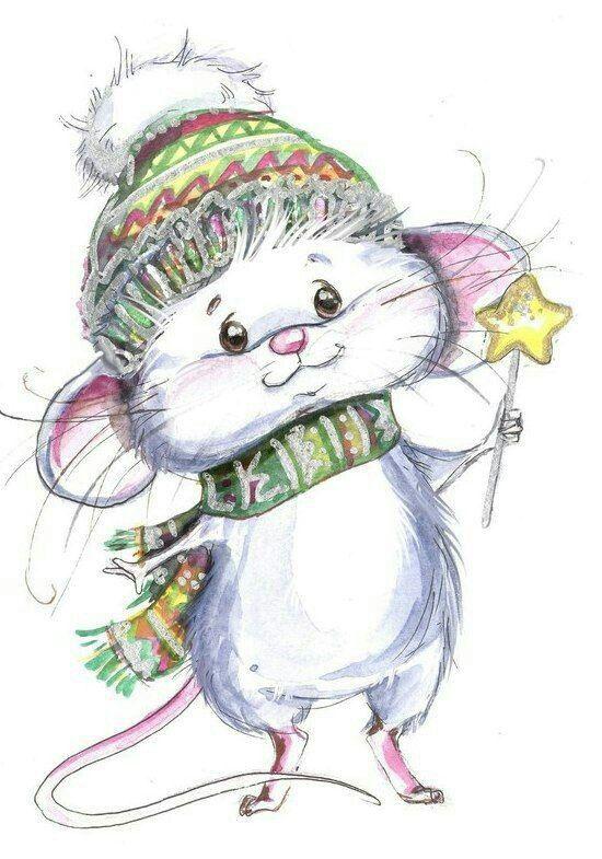 Картинки веселые мышки зимой, гифка стих открытки