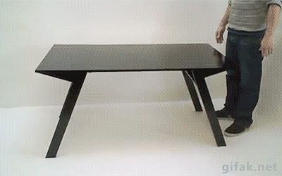 From coffee table to dining table in two steps