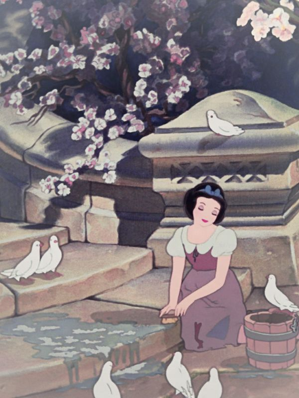 Snow White and doves