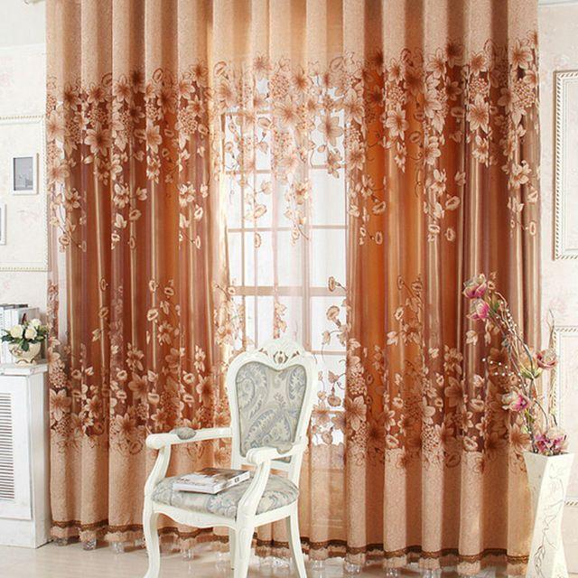 Fényűző Előkelő Jacquard fonal függöny tüll Voile ajtó ablak függönyök Nappali Hálószoba Decor Ingyenes szállítás NVIE