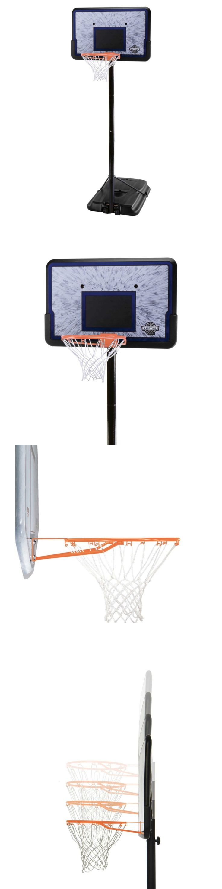 Backboard Systems 21196: Lifetime 1221 Pro Court Height Adjustable Portable Basketball System, 44 Inch Ba BUY IT NOW ONLY: $123.99