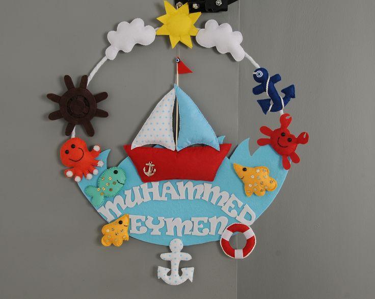 Muhammed Eymen'in deniz konseptli kapı süsü :)