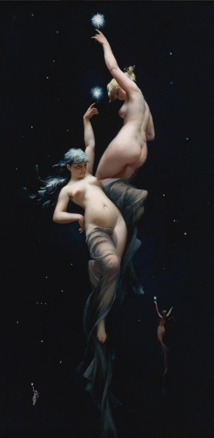 Moonlit Beauties 1880 - por Luis Ricardo Falero