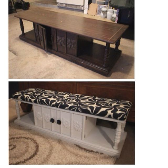Goodwill Finds Before and After   BEFORE / AFTER goodwill find idea! $14 and some work got a bench with ...