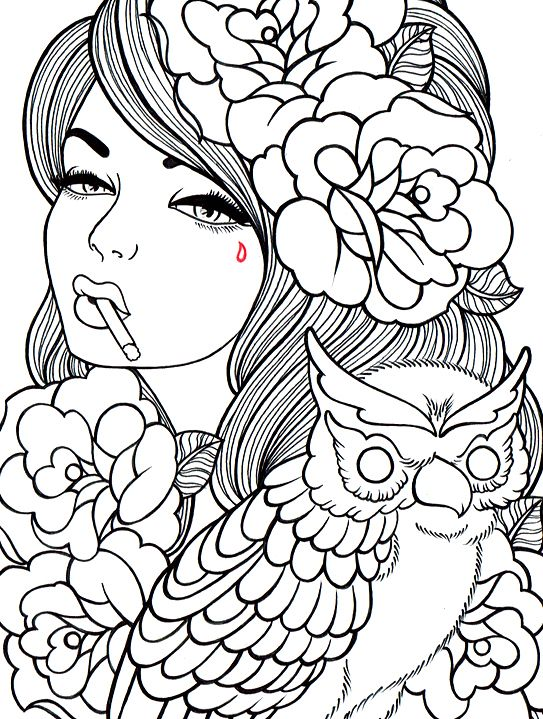 141 best Beautiful Detailed Coloring Pics images on Pinterest - new free printable coloring pages/girls in dresses
