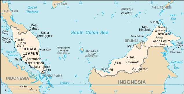 Map of malaysia states google search maps pinterest