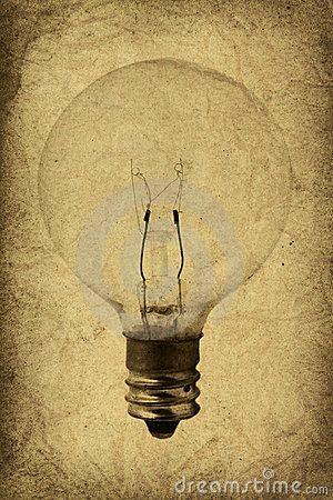 Vintage Light Bulb Illustration by Briancweed, via Dreamstime
