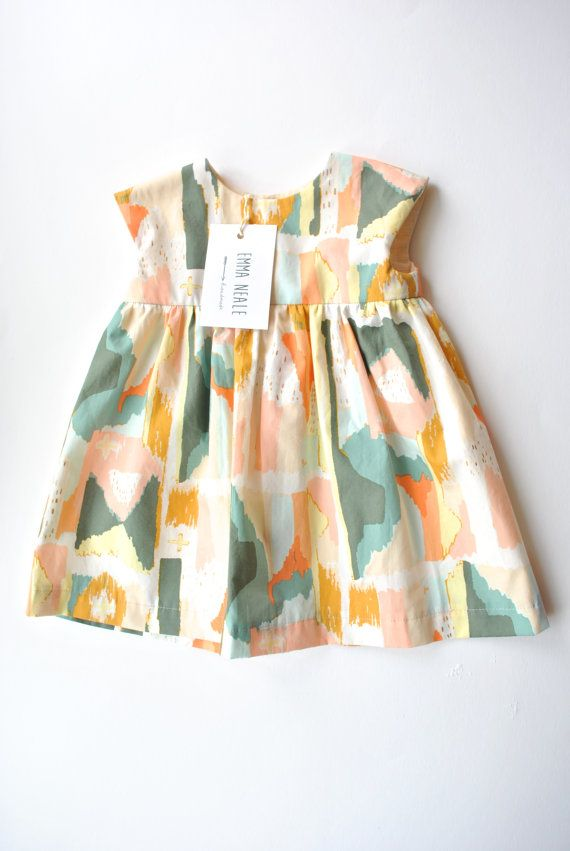 Baby Girl Clothes. Dress in Beautiful Fabric. by EmmaNealeHandmade