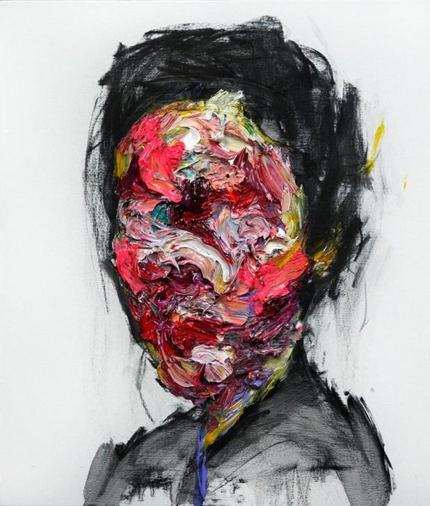 Kwangho Shin s a South Korean painter currently based in Seoul. He studied art at Keimyung University, and has recently become known in the art world for his abstract portraits, which he creates using oil, acrylic, and charcol. Shin's paintings depict subjects using colors that represent the subjects' emotions, with brushstrokes and layers of paint often distorting the subjects' faces while drawing attention to the eyes.