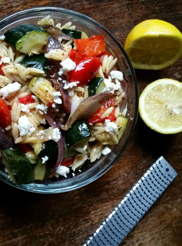 orzo salad with roasted vegetables orzo salad food crafts roasted ...