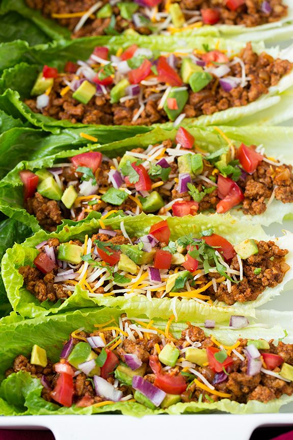 Turkey Taco Lettuce Wraps - These will be great for my Ladies Lunch on the Porch! Cooking Classy