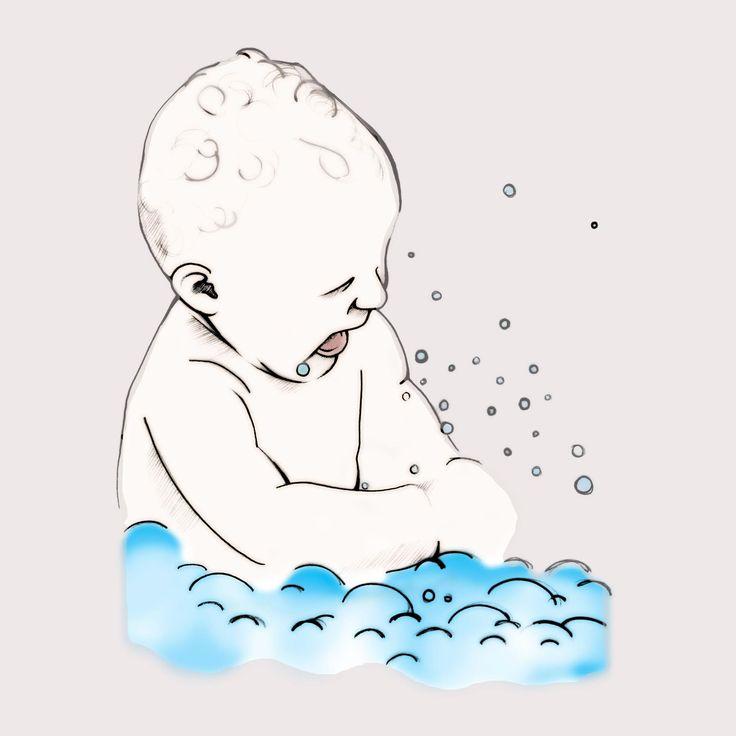 Retrouvez un poème sur le bain et une astuce pour les peaux sèches des bébés #bain #astuce #peaudouce #bebe #amidondeble #family