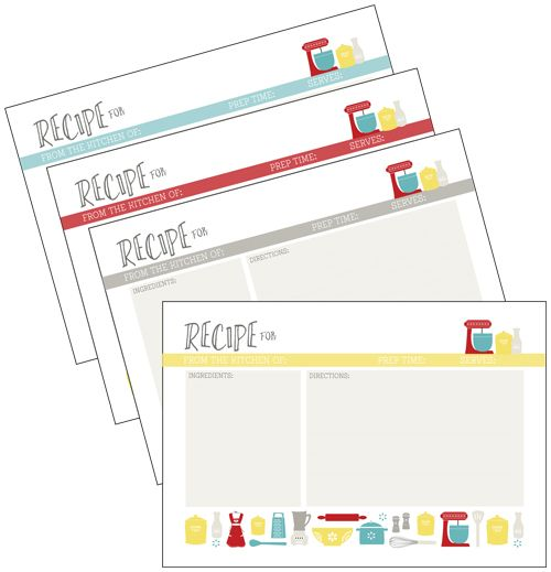 105 best recipe cards images on Pinterest Printable recipe cards - free recipe card templates for word