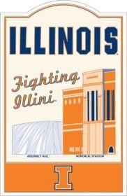 Illinois Fighting Illini Nostalgic Metal Sign
