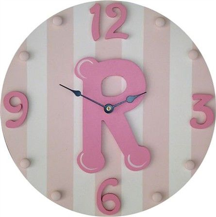 Cute initial clock for the nursery!