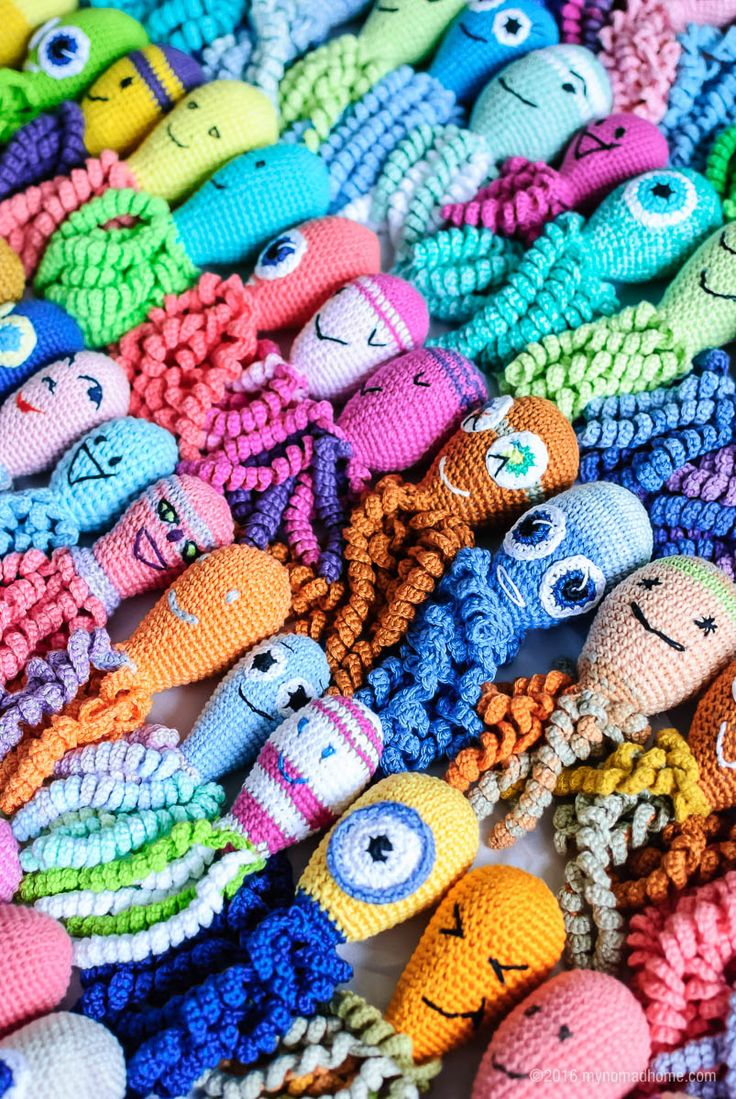 Octopus for preemies.  Inspiration for various colors & styles.  I personally love the minion one!