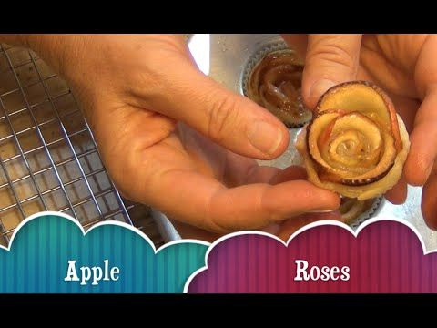 Apple Roses, 4 ingredients, easy vegan Mothers day Treat even the kids can make. cheekyricho video recipe https://youtu.be/qILoqOFWpbM