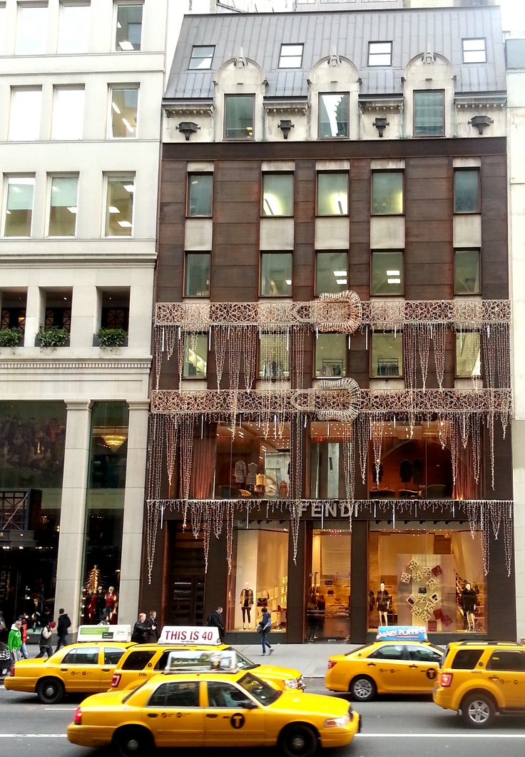 Fendi Store At 677 5th Avenue, New York City Decorated For