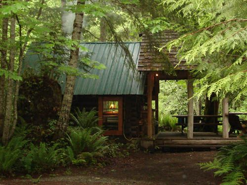 "Cowichan River, Vancouver Island, BC - ""Trappers Cabin"""