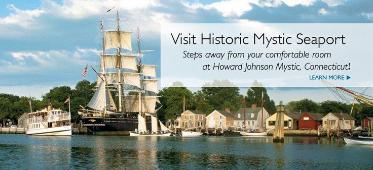 Mystic Hotels: Howard Johnson Mystic is centrally located near Mystic Seaport and other Mystic, CT attractions and has a huge indoor pool and oversized rooms for your ideal CT getaway.