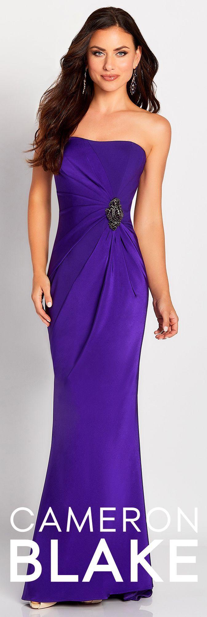 Cameron Blake Style 119650 Stretch Evening Dress Evening Dresses Dresses [ 2000 x 673 Pixel ]