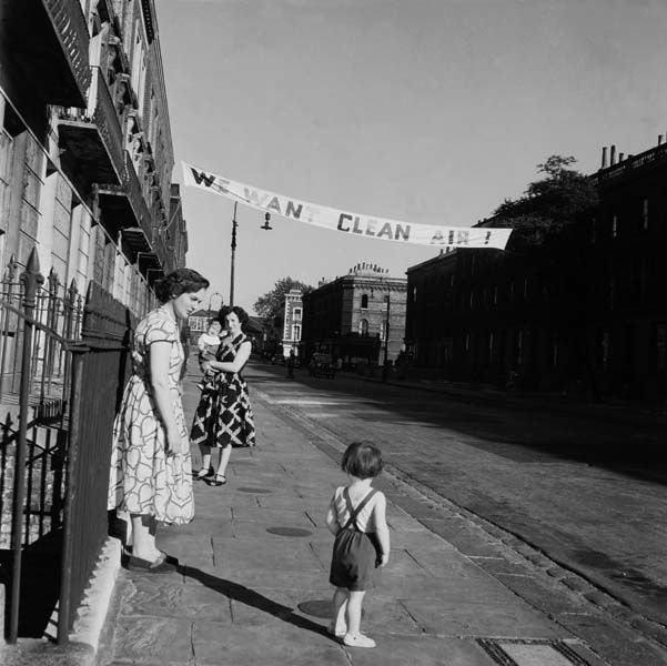 'We Want Clean Air' protest banner, Paddington 1956 | Museum of London