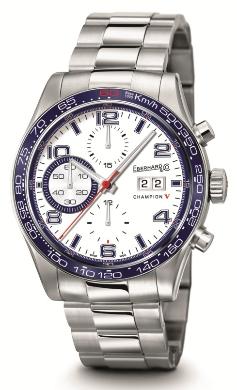 Champion V Grande Date  Ref 31064.4  Mechanical automatic winding chronograph. 42,80 mm steel case, convex sapphire glass anti-reflective, screw-in crown, caseback fixed by 6 screws, steel Chablis bracelet.
