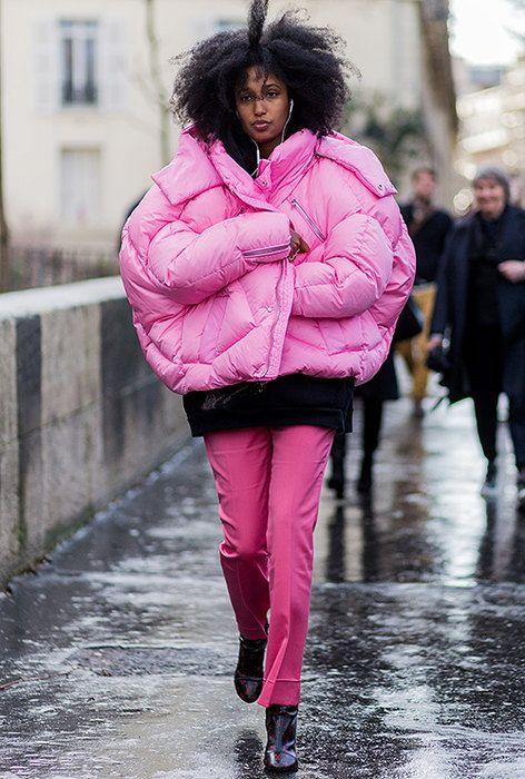 С чем носить пуховик | Фото | Зимние женские пуховики | Журнал Cosmopolitan